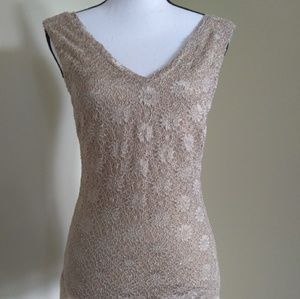 Banana Republic Lined Lace Top Small